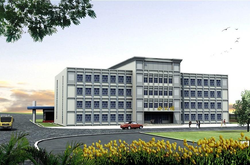 三层厂区办公楼效果图